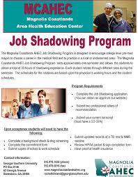 fact sheets job shadowing fact sheet 2015