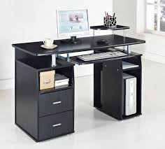 computer desks home office and desks on pinterest black and white office furniture