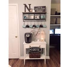 i want a coffee bar with doors under the table so you can put extra mugs and coffee under there if it were big enough you could put pet food in it built coffee bar makeover