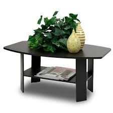 accessories interior small coffee table decorations in black painted and single tier storage racks home office room calmly