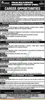 punjab health institute management company jobs on  punjab health institute management company jobs