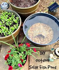 diy patio pond: diy outdoor solar fish pond