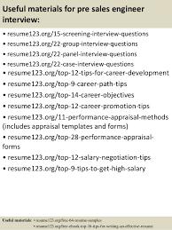 Top   pre sales engineer resume samples