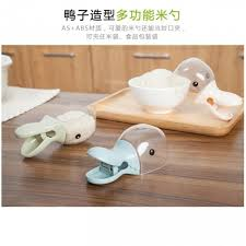 Z PLUS Lovely Duck Head Shape <b>Plastic</b> Rice Cereal Scoop with ...