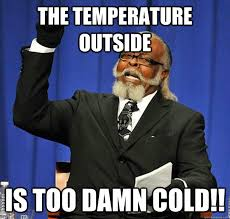 The temperature outside Is too damn cold!! - Jimmy McMillan ... via Relatably.com