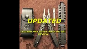 UPDATED <b>Leatherman</b> Surge with 42 Piece <b>Bit Kit</b> and <b>Bit</b> Extender ...