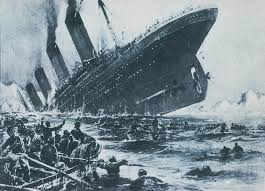 Image result for titanic sinking