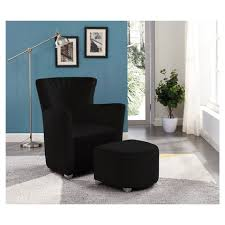 <b>Relax Armchair</b> With Foot Stool - <b>Black</b> | <b>Real</b> Canadian Superstore