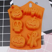 <b>Halloween</b> Holiday <b>Silicone Cake</b> Mold Pumpkin Ghost Bat Shape ...