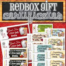 redbox gift holiday certificates instant 128270zoom