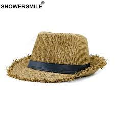 <b>SHOWERSMILE</b> Brand Khaki Straw <b>Hat</b> Men Panama <b>Caps</b> ...