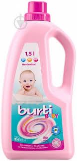 ᐉ <b>Гель</b> для машинной и ручной <b>стирки Burti</b> Baby 1,5 л • Купить в ...