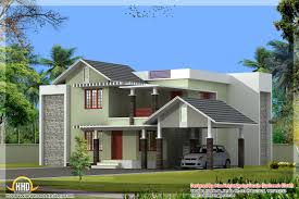Small Budget Villa House Sq Ft Details Style House In Square Feet    square feet home plan and elevation   style house in square feet kerala