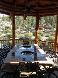 iron patio furniture mosaic table