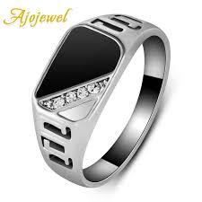 <b>Ajojewel</b> #7-12 Good Quality Man Jewelry <b>Fashion</b> Black Enamel ...