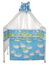 """<b>Комплект постельного белья Polini</b> kids """"Мишки"""", 120х60 голубой ..."""
