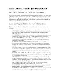 office assistant job description resume  resume qualification general office administrative office assistant job description back office assistant job description