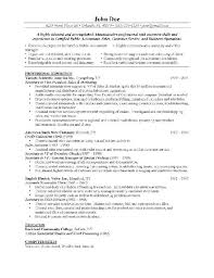 Quality Control Chemist Resume Examples  cover letter qc chemist