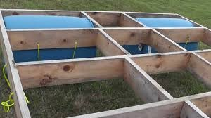building a floating raft using barrels with childrens slide youtube build floating