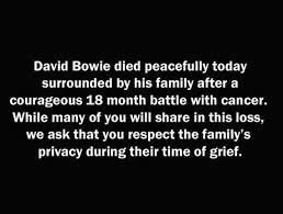 Αποτέλεσμα εικόνας για David Bowie «έφυγε»