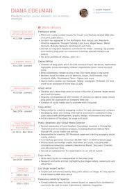 Freelance Writer Resume Samples   VisualCV Resume Samples Database VisualCV Freelance Writer Resume Samples