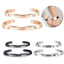 A pair <b>Bracelet Accessories</b> Titanium Steel <b>Couple Bracelets</b> ...