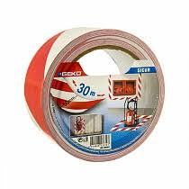 <b>Клейкая лента разметочная UNIBOB</b> 50 мм х 50 м, красно-белая ...