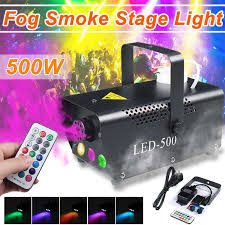 Fog Smoke Party <b>Light</b> Mist Machine 500W <b>Sound</b> Activated <b>Strobes</b> ...