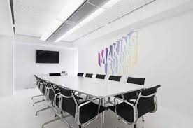 glass bright office room interior