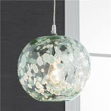 speckled hand blown glass pendant beach theme lighting