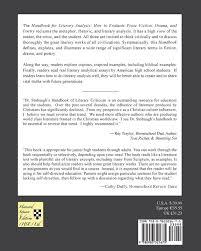 com handbook for literary analysis book i how to evaluate com handbook for literary analysis book i how to evaluate prose fiction drama and poetry 9780983321675 james p stobaugh books
