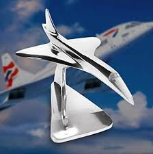 Concorde Desktop Flight <b>Model</b> Made Of Solid Hand Cast Aluminum ...