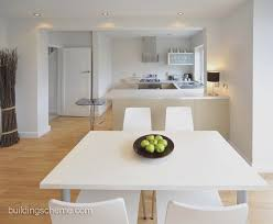 Modern White Dining Room Set 20 Best Open Plan Living Designs Modern White Kitchen Timber