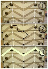 how to paint chevron stripes on a dresser chevron painted furniture