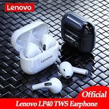 Original <b>Lenovo LP40 wireless</b> headphones TWS Bluetooth ...