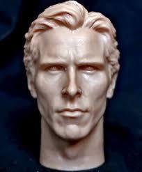 <b>1/6 scale</b> resin unpainted <b>figure</b> head sculpt <b>christian bale</b> batman ...