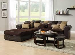 view options living room collection lamont modular sectional sofa set a chocolate corduroy and dark brown