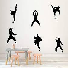 Martial Kung Fu <b>Wall</b> Sticker Creative Vinyl <b>Sport Taekwondo</b> ...