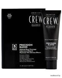 <b>American Crew</b> Precision Blend - <b>Краска</b> для седых волос темный ...