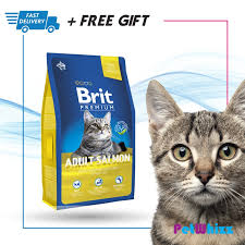 <b>Brit Premium</b> Adult Salmon Cat <b>Food</b> 8kg (Ori-Pack) | Shopee ...