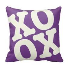 day orchid decor: xoxo pillow valentines day cushion purple
