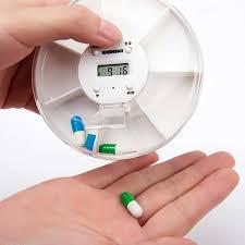 <b>Portable</b> 5 Alarms <b>Pill Box 7</b> Days Timed <b>Medical</b> Box Organizer ...