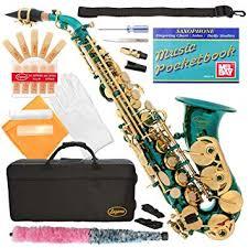 320-SB - SEA BLUE/GOLD Keys Curved Bb Soprano ... - Amazon.com