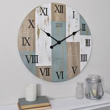 FirsTime & Co. <b>Timber Planks</b> 24 in. <b>Wall Clock</b>-25694 - The Home ...