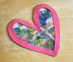 Image result for image heart suncatcher crayon
