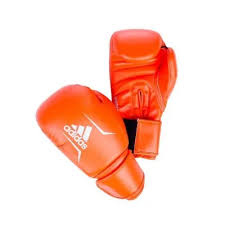 Боксерские <b>перчатки Adidas speed 50</b> оранжево-серебристые