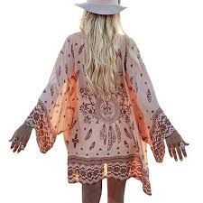 Fulltime(TM) Summer Women Boho <b>Printed</b> Chiffon Loose <b>Shawl</b> ...