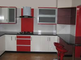 Red Tile Paint For Kitchens Kitchen Modern Decor Kitchen Sets With Simple Accessories Design