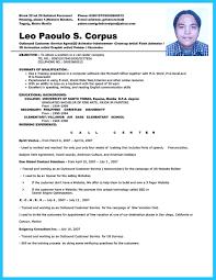 resume format for applying call center job best almarhum resume format for applying call center job resume templates resume examples samples cv call center