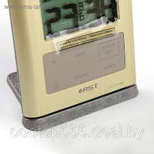<b>Термометр RST 02717</b>, цифровой, радио-датчик, часы, бежевый ...